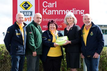 Carl Kammerling helps Community First Responders buy a defibrillator