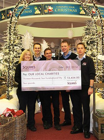 Squire's raises more than £13k for charity